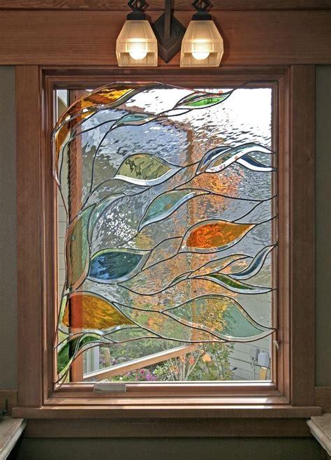 hand  stained glass   bathroom window  isaac