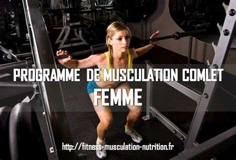 programme musculation femme fitness musculation nutrition
