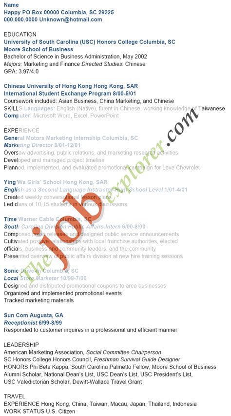 sample cv  asian names perfect resume format
