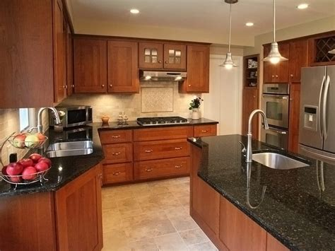 transitional kitchen remodel  large island american