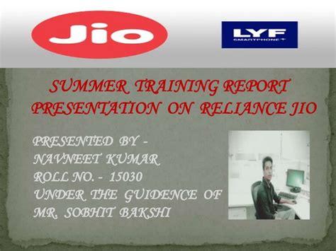 presentation on reliance jio