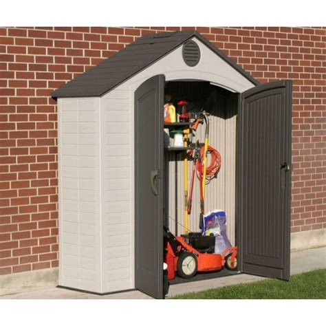 lifetime storage shed lifetime 6413 8 x 2 5 ft storage shed on fast