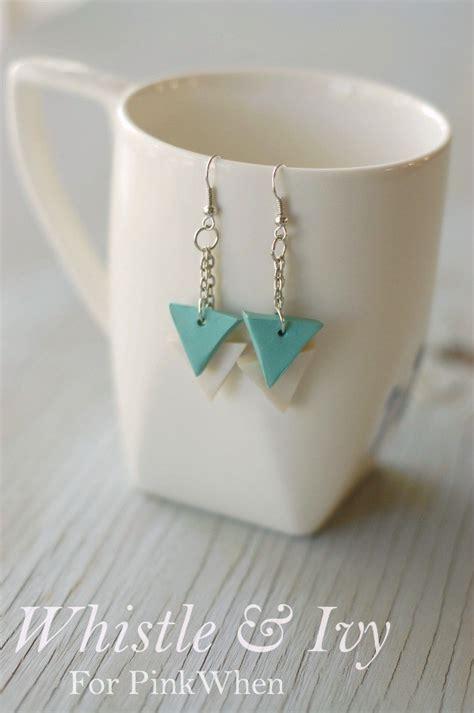 diy polymer clay geometric earrings