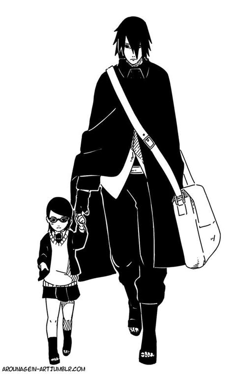 foto de Sasuke Uchiha and Sarada Uchiha #Naruto #Boruto