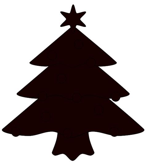 christmas tree silhouette clip art cliparts co
