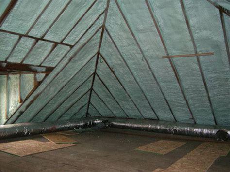 spray foam insulation  left exposed