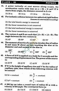 Nstse 2009 Solved Question Paper For Class Xi Pcm
