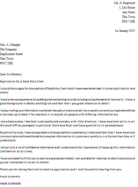 data entry clerk resume cover letter data entry clerk cover letter exle icover org uk