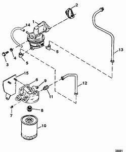 Fuel Pump And Fuel Filter For Mercruiser 7 4l 454 Mag