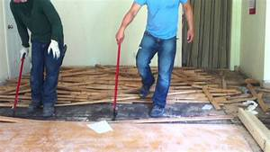 how to remove hardwood floors nail down youtube With how to remove glued hardwood floor