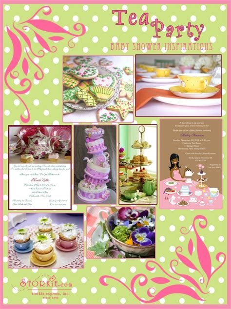 party ideas and themes archives diy swank tea party theme baby shower invitations archives baby
