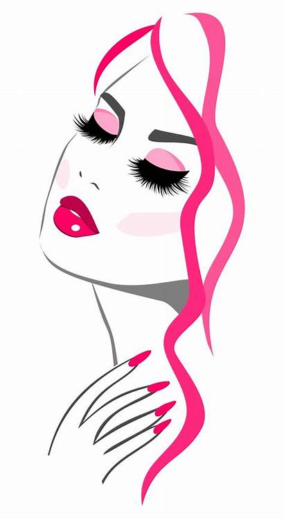 Beauty Makeup Vector Clipart Parlour Icon Hair
