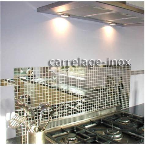 mosaique cuisine credence tole inox mosaique credence cuisine cm miroir 25