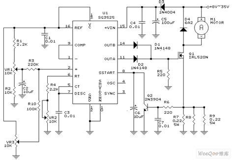 sg3525 dc motor driver circuit basic circuit circuit diagram seekic