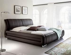 Modernes Bett 180x200 : designer luxus lederbett polsterbett modernes leder bett schwarz braun weiss ebay ~ Watch28wear.com Haus und Dekorationen