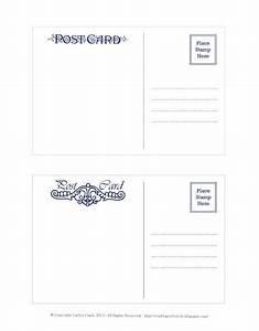 Printable Postcard Template Free   U1408 Printable Silhouette