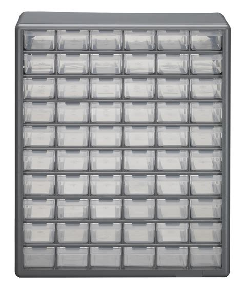 Stack On 60 Drawer Plastic Parts Cabinet with Removable