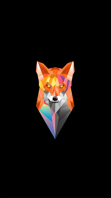 wallpaper fox low poly 3d low poly fox fulfilled request 1080x1920 Wallp