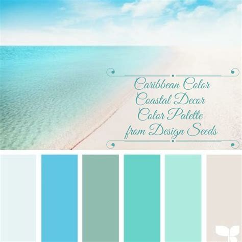 coastal decor color palette caribbean color from