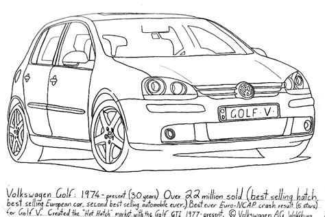 Kleurplaat Golf Gti by Golf Pencil Coloring Pages