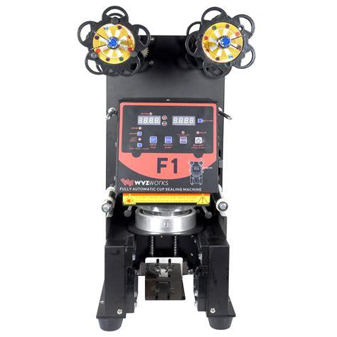 wyzworks  black fully automatic cup sealing machine wyz works
