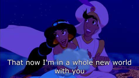 A Whole New World Aladdin 1080 HD with lyrics YouTube