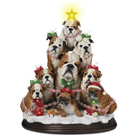 bulldog family christmas tree  danbury mint