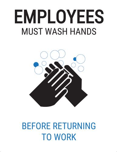 employees  wash hands label label templates ol