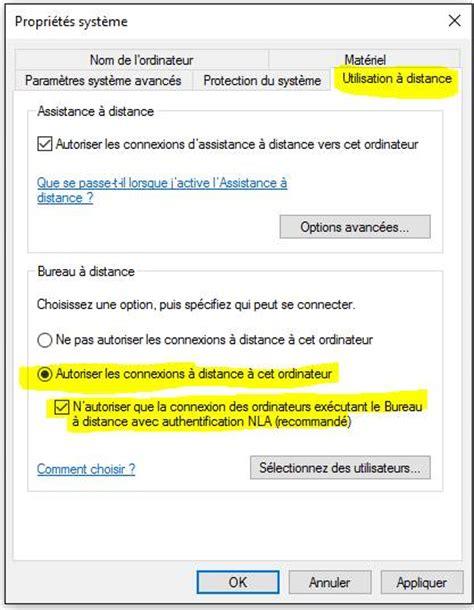 autoriser connexion bureau a distance 28 images