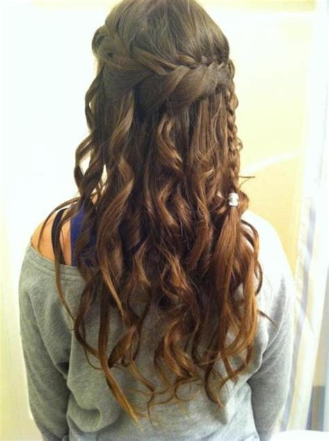 Hairstyles With Braids And Curls by Waterfall Braid With Curls My New Hair