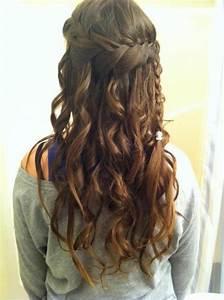 Waterfall Braid With Curls My New Hair