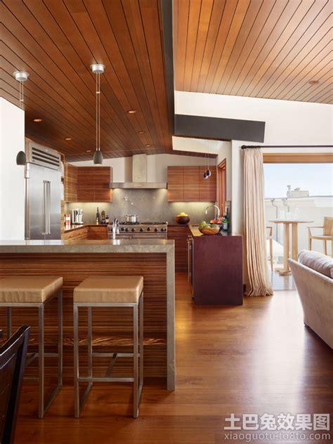 modern tropical kitchen design 家装桑拿板吊顶效果图 土巴兔装修效果图 7779