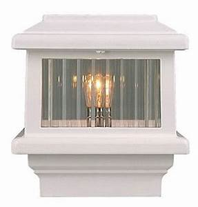 Aurora titan deck light 4quot white 110 volt for 110 volt outdoor deck lighting