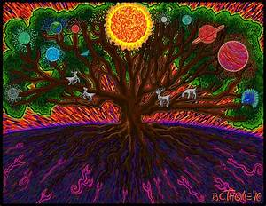 Yggdrasil Painting by Thome Designs