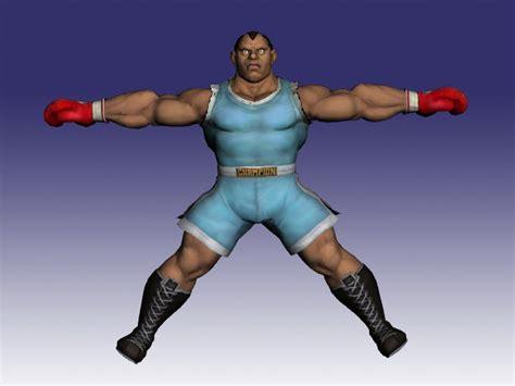 Balrog In Super Street Fighter 3d Model Objectmilkshape
