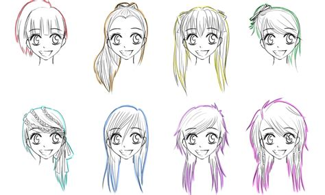 long anime hairstyles