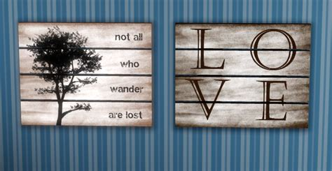 Sims 3 downloads from all over the world custom content sites! Mod The Sims - Upcycled Pallet Wall Art