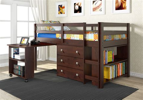 bed with built in desk loft bunk bed with roll out desk built in 3 drawer chest