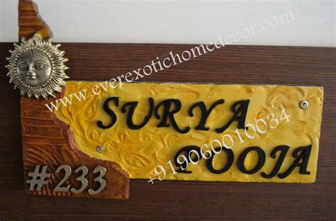 Sell Home Interior - designer name plates customized name plates name boards suppliers bangalore
