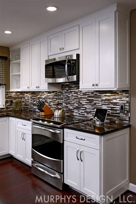 Kitchen Backsplash Virginia by Metal And Glass Backsplash With Cambria Countertop