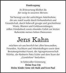 Super Sonntag Wittenberg : traueranzeigen von jens kahn ~ Watch28wear.com Haus und Dekorationen