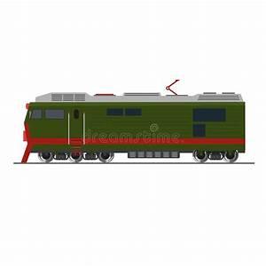 Freight Train. Isolated On White. Side View Stock Vector ...