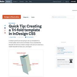 Tip Creating A Tri Fold Template In Indesign Cs5 Indesign Derekpotter Pearltrees