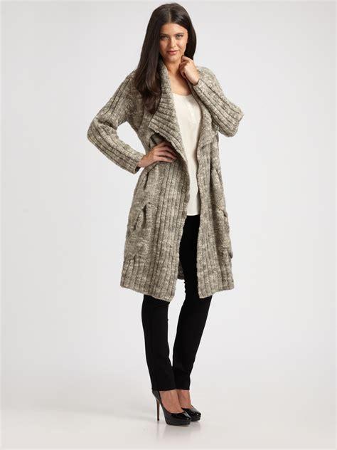 sweater robe fisher smoke chunky knit sweater coat dress journal