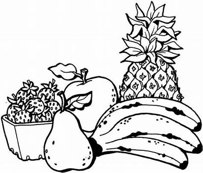 Coloring Fruit Pages Banana