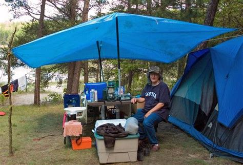 diy tent vestibule  tarp sticks poles camping knots knots tutorial diy tent