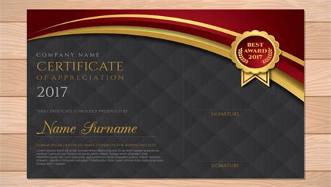 award certificates  word sample templates