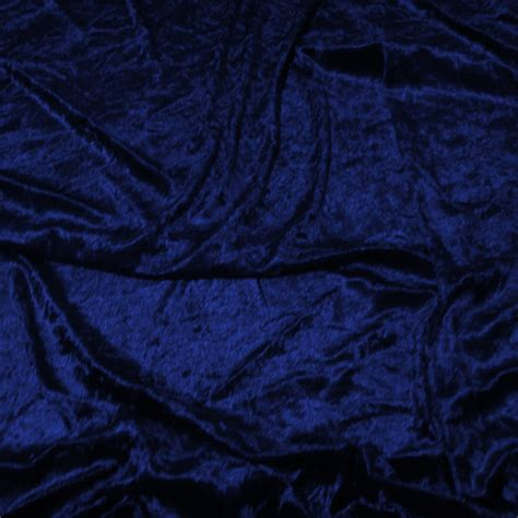 Discover Direct  Crushed Velvet Dress Fabric, Royal Blue