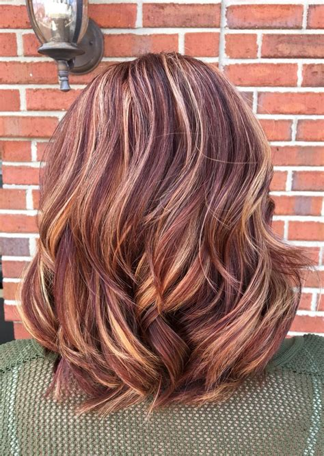 copper violet blonde balayage blonde balayage brown