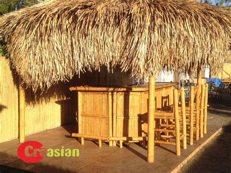 Tiki Hut Bar Kits by Bamboo Umbrella Bamboo Palapa Bamboo Gazebo Thatch